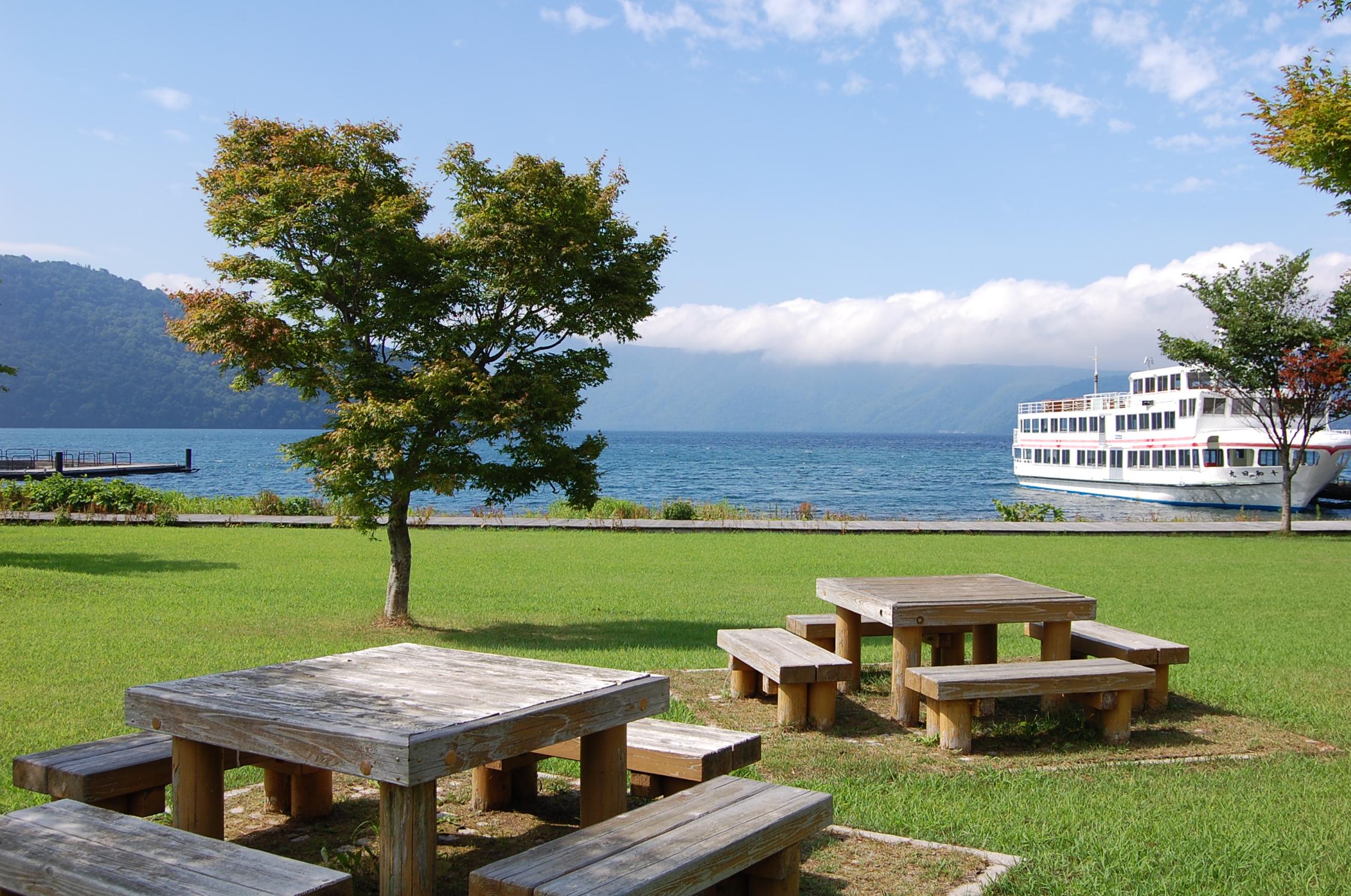 十和田湖畔の公園