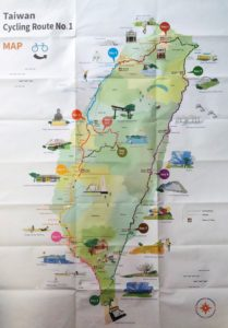 Taiwan Cycling Route Map